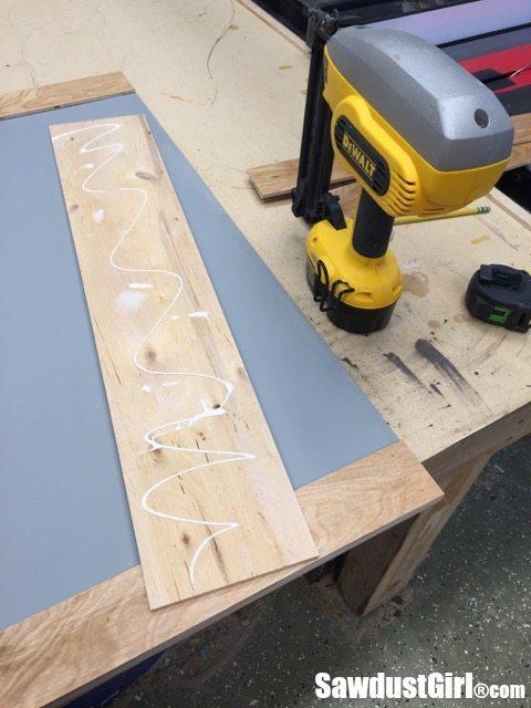 using the DeWalt cordless nailer