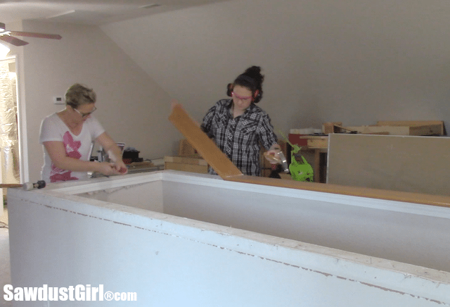 Building a craft room in the loft.