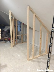 Building a closet around wonky angled ceiling