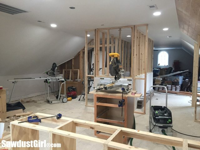 Creating usable space by extending stairway walls.