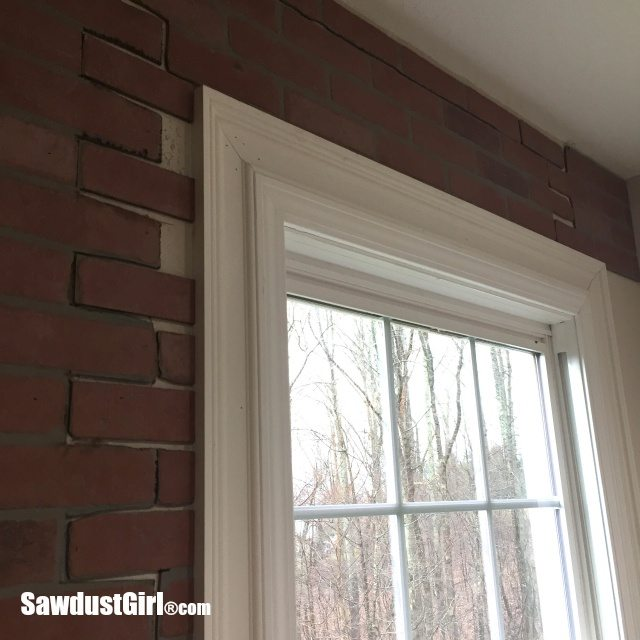 Faux brick and plaster wall