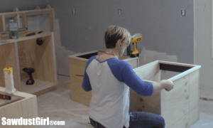 Craft room cabinets