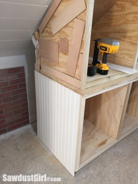 Cover Cabinet Sides with Beadboard Paneling