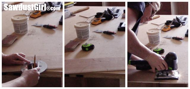 Installing a DIY Plywood V-Groove Plank Ceiling Sanding