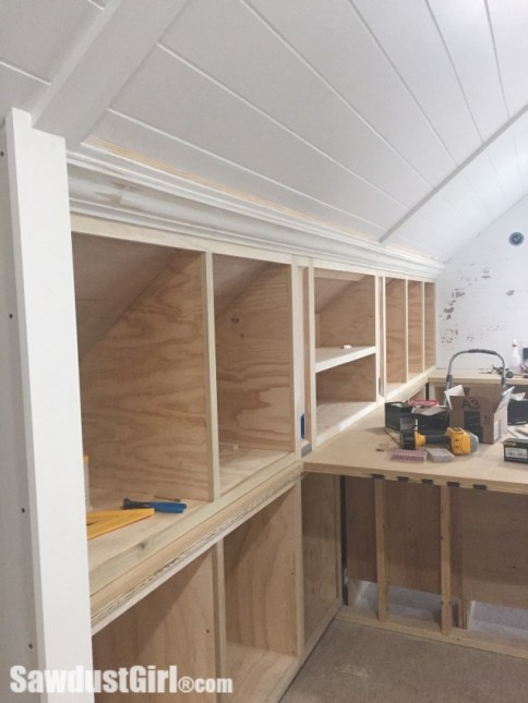 Crown Moulding on Angled Ceiling - Sawdust Girl®