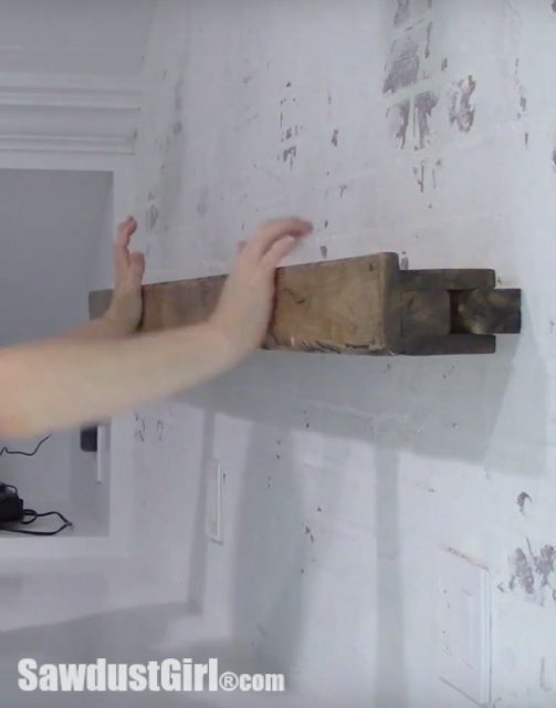 Distressed Wood Picture Ledge