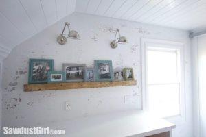 DIY Distressed Wood Picture Rail