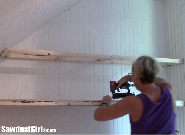 Building wooden closet shelves