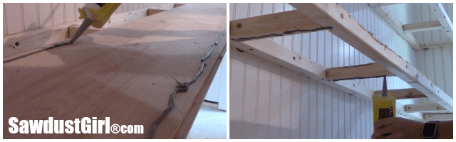 Building long floating shelves