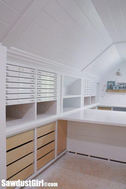 Map Drawers - Craft Room Storage