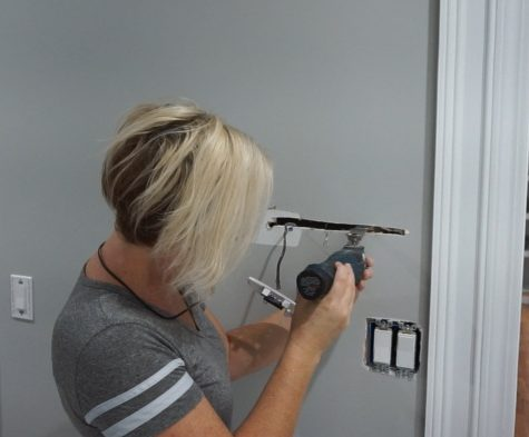 Moving thermostat and patching drywall