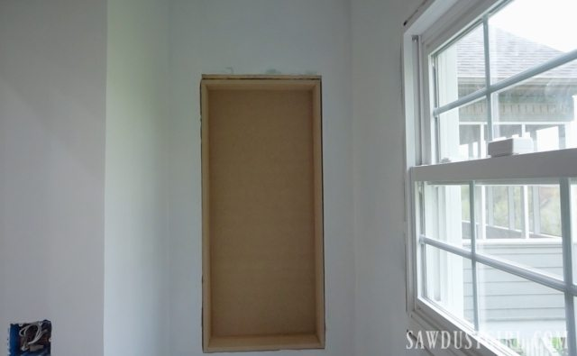 In wall storage cabinet