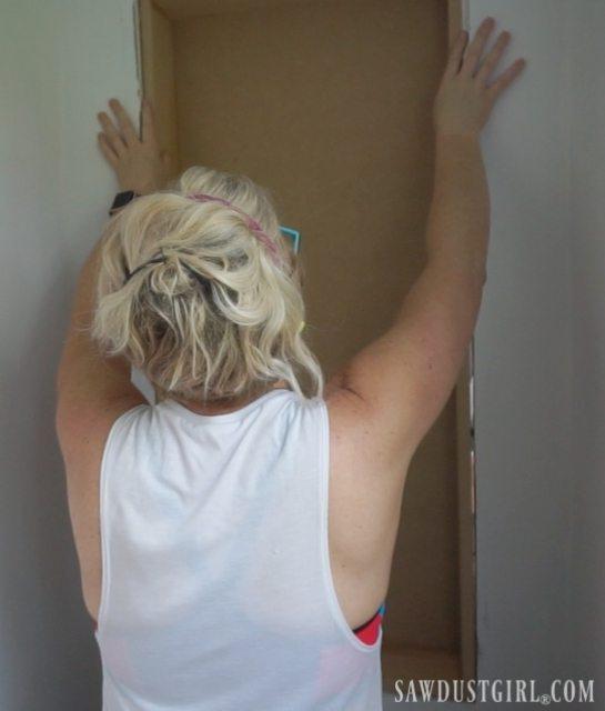 Building a cupboard inside wall