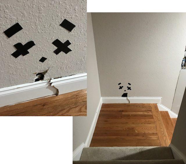 Drywall repair needed