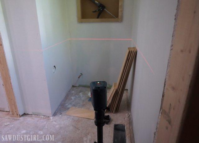Plywood plank walls