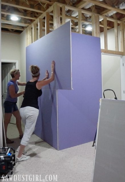 Installing PURPLE XP Drywall on a closet wall