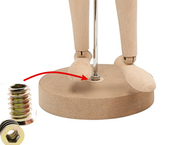 Base with threaded insert nut