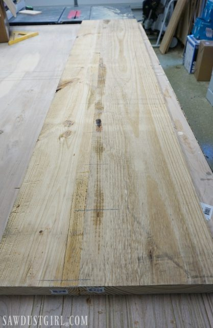 Wide plank of wood for diy tables