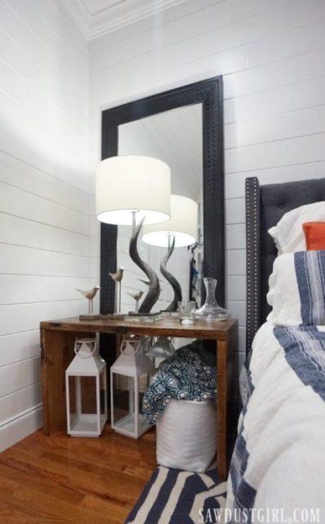 Guest bedroom bedside table