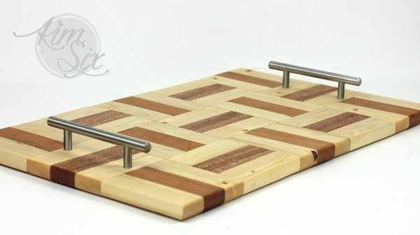Parquet style DIY serving tray