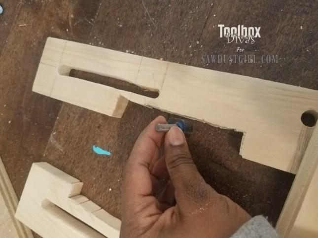 Dado Jig for Ryobi Palm Router 14 - Toolbox Divas for Sawdust Girl