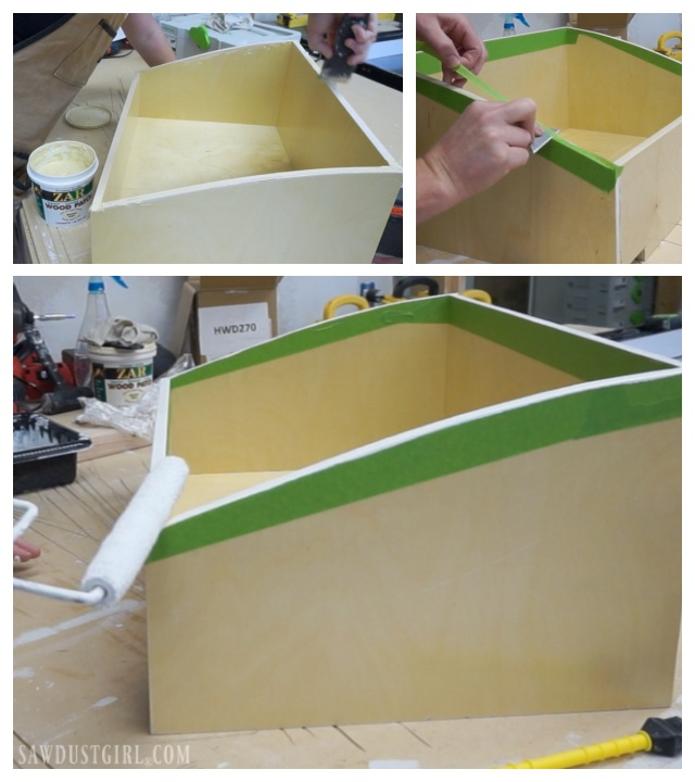 Making drawer with curved sides