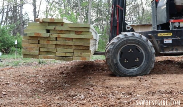 Pressure treated lumber delivery