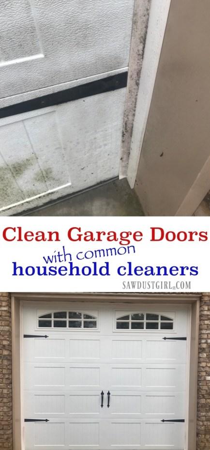 How to clean garage doors