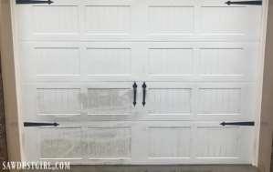 Cleaning a garage door