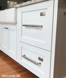 Custom panel dishwasher drawers