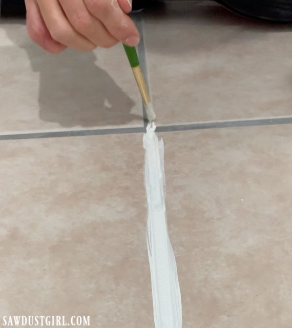Using grout paint - it works!