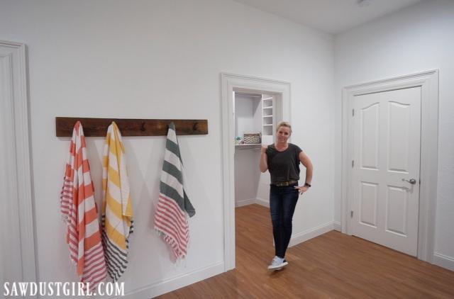 Basement bedroom and closet