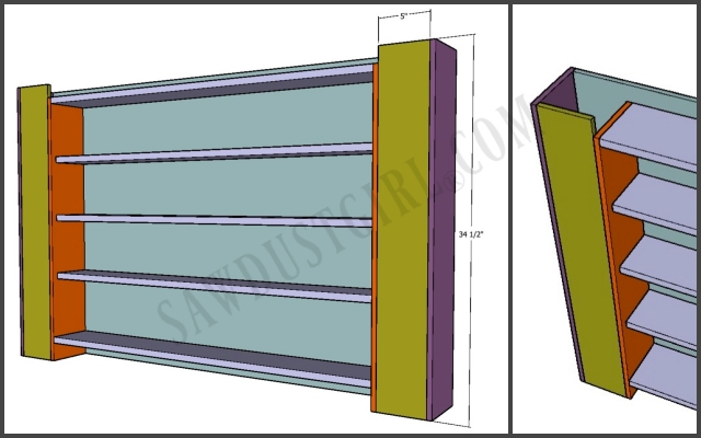 wrapping station cabinet plans