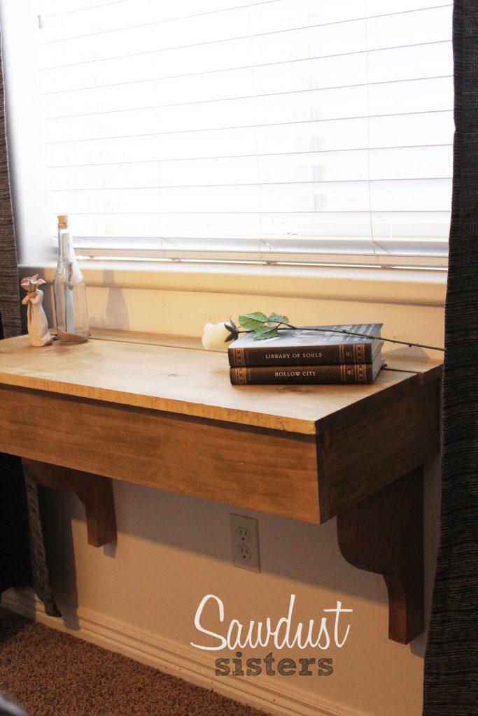 DIY Floating DeskVanity With Storage Sawdust Sisters