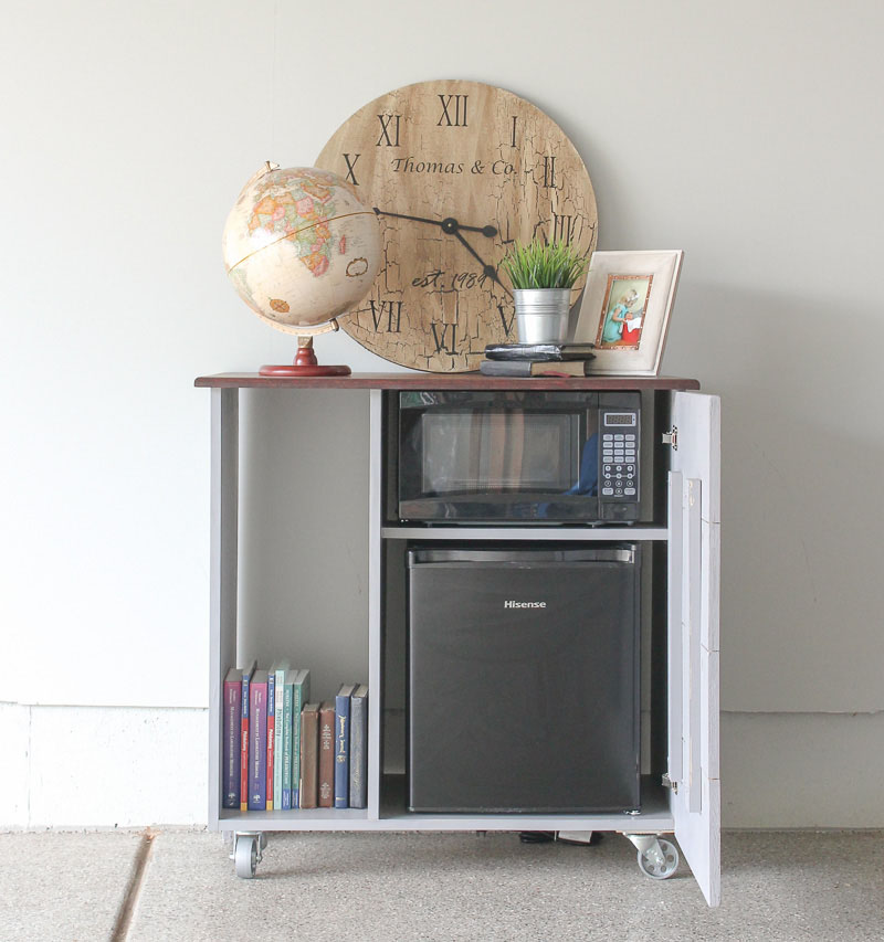 diy mini refrigerator storage cabinet