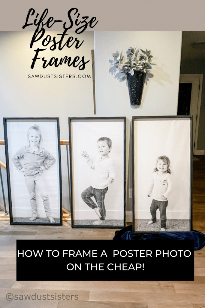 framing large posters the easy way