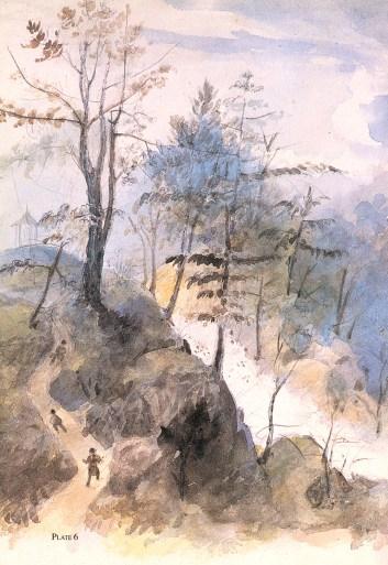 The Cataract by Alexander Jackson Davis (1840)