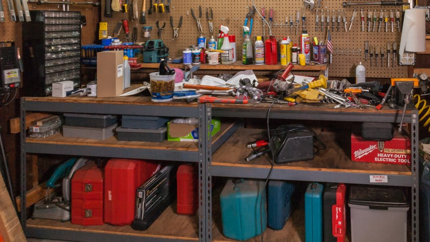 Messy Workbench after Removing Shackle