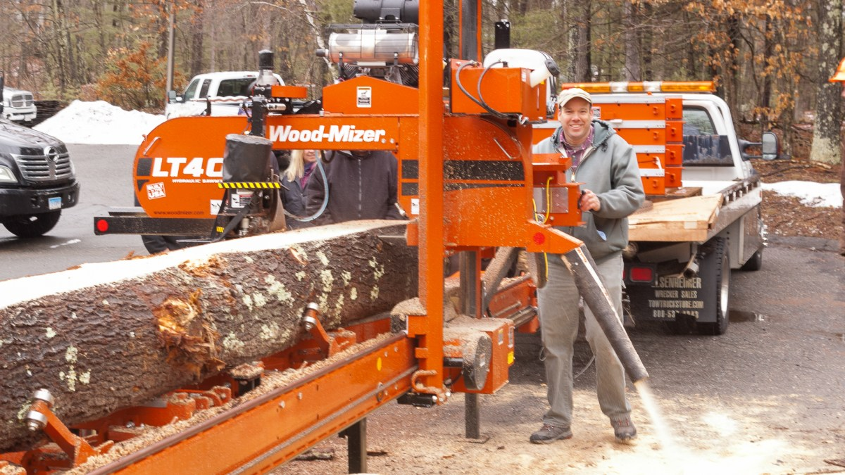 WoodMizer LT40 with John