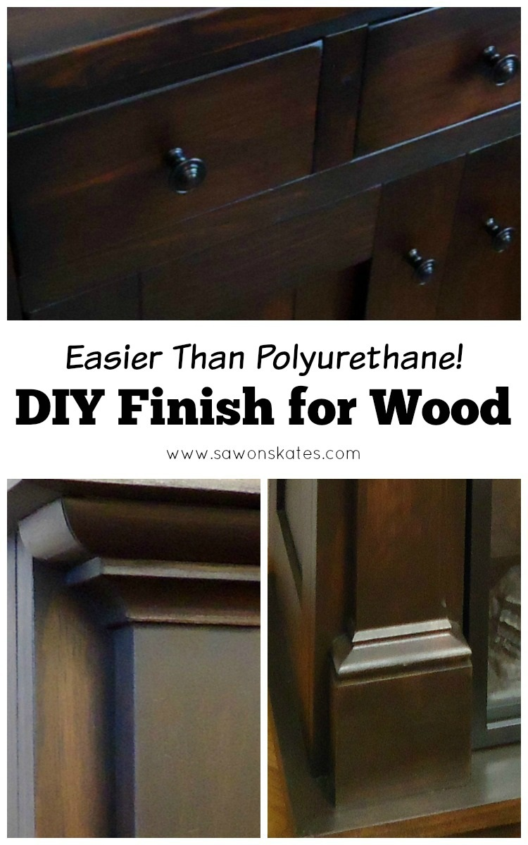 Looking for great wood finish ideas? This tutorial shows how to make an easy DIY three ingredient wipe on top coat finish. It's a