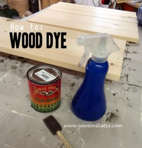 How to use wood dye tutorial