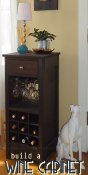 How to build a DIY Wine Cabinet - Free Plans