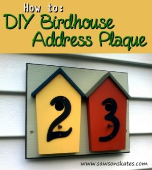 how to make a diy birdhouse address plaque 1 ht