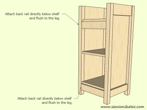 How to make a DIY Wine Cabinet Back Rail Installation- Free Plans