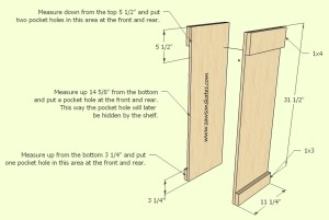 How to make a DIY Wine Cabinet Side Panel Assembly- Free Plans