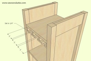 How to make a DIY Wine Cabinet Stemware Installation - Free Plans