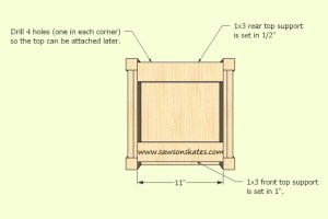 How to make a DIY Wine Cabinet Top Support - Free Plans