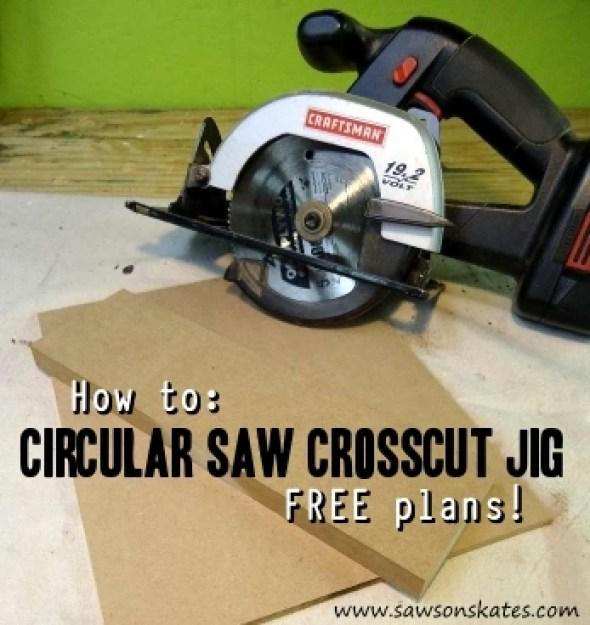 how to make a circular saw crosscut jig