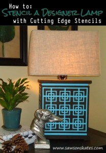 How to: Stencil a Designer Lamp with Cutting Edge Stencils