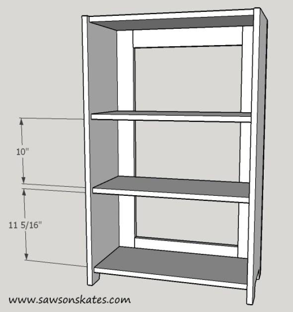 basement window cabinet shelf installation